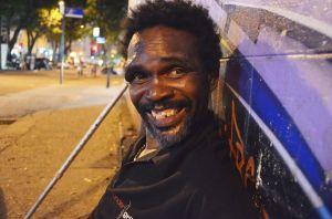 José Roberto, morador de rua. Fonte: facebook.com/rio.invisivel http://goo.gl/c9xYeh
