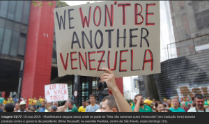 """""""Nós não seremos outra Venezuela"""" Fonte: UOL Notícias."""